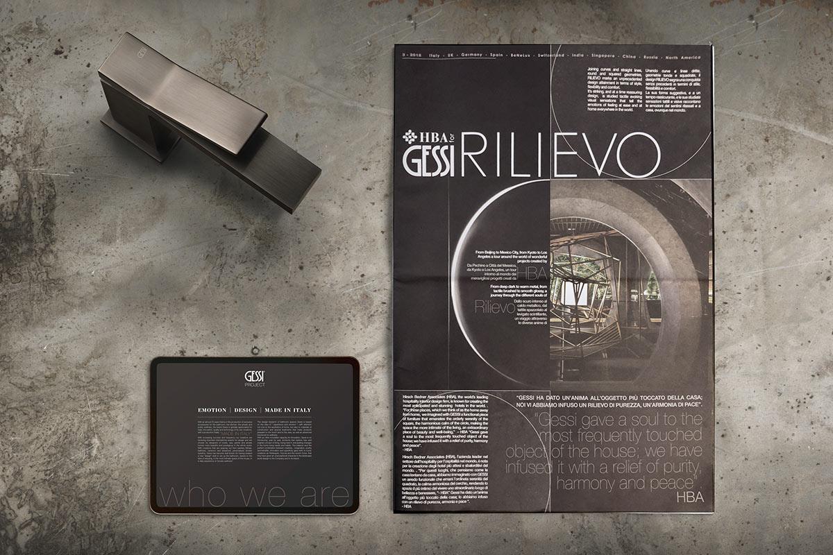 Gessi design collezione Rilievo - Cherries Comunicazione